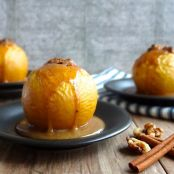 Baked Apples in Gin