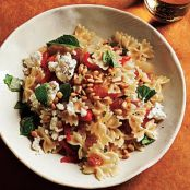 Mini Farfalle with Roasted Peppers, Onions, Feta & Mint