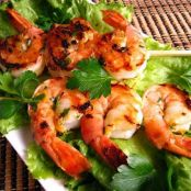 Holiday Tapa Chile de Arbol (Marinated Shrimp with Lemon Feta Vinaigrette