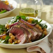Sesame-Crusted Beef and Spinach Salad