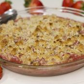 Strawberry, Apple and Rhubarb Coconut Cobbler