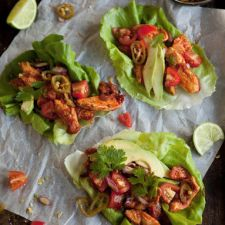 Tacos: Lettuce 'tacos' with chipotle chicken