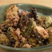 Roasted Brussels' Sprouts with Horseradish Sauce