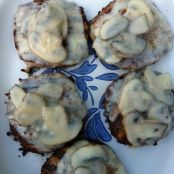 Turkey Burgers with Mushrooms and Swiss Cheese