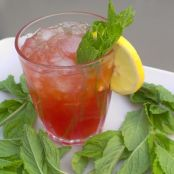 Spiked Strawberry Mint Lemonade