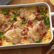 Smothered Chicken Pasta Bake