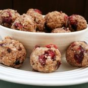 Energy Balls with Coconut, Sunflower Seeds, Dark Chocolate & Dried Cranberries