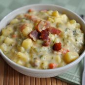 Loaded Broccoli Cheese Bacon Soup