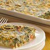 Cheesy Egg and Spinach Casserole