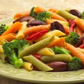 Pasta & Olive Salad with Roasted Garlic & Peppers
