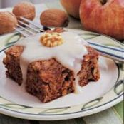 Walnut Apple Cake with Butter Sauce