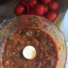 Heidi's Homemade Salsa with Roasted Tomatoes