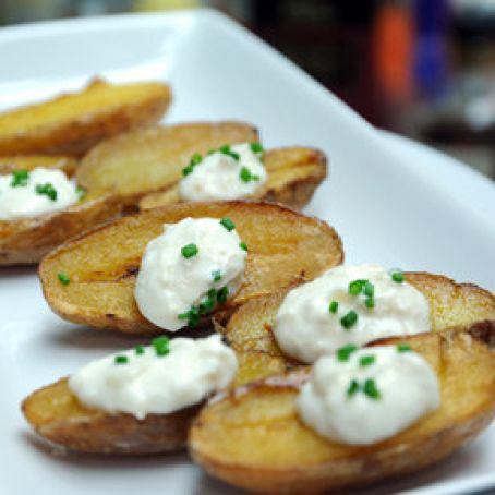 Fried Fingerling Tater Skins, Clinton Kelly's