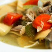 Chicken & Vegetable Soup with Fresh Herbs & Egg Noodles