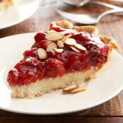 Cherry-Almond Creamy Cheese Pie