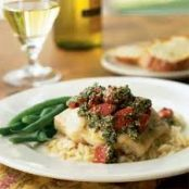 Flat Belly - Steamed Snapper w/Pesto