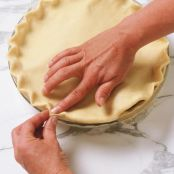 Cold water pie crust