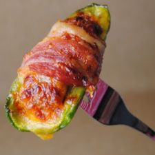 Goat Cheese Stuffed Jalapenos Wrapped in Bacon