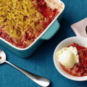 Summerized Strawberry-Rhubarb Crisp