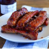 Chinese Pork Ribs with Plum Sauce