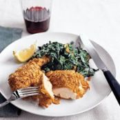 Crispy Chicken with Garlicky Swiss Chard