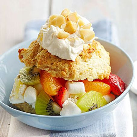 Tasty Tropical Ambrosia Shortcake