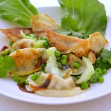 Potstickers with Baby Bok Choy
