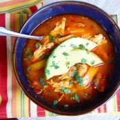 Paleo Crockpot Chicken Enchilada Soup