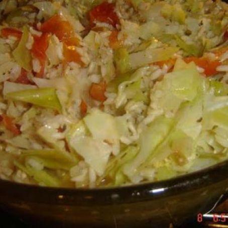 Rice And Cabbage Casserole Vegan Recipe 3 6 5