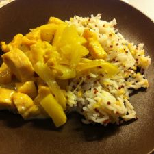 Chicken, Pineapple and Coconut with Rice