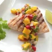Grilled Glazed Wild Salmon with Mango Salsa