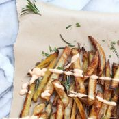 Crispy Oven Baked French Fries with Herbed Sea Salt