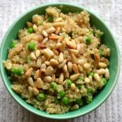 Quick and Easy Healthy Lemon Quinoa with Peas