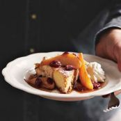 FRENCH TOAST WITH PEAR CRANBERRY COMPOTE
