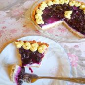 Low Carb Glazed Blueberry Cheese Pie