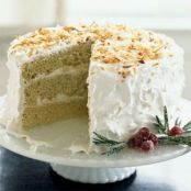 Coconut Layer Cake with Swiss Buttercream | Print | Key Ingredient