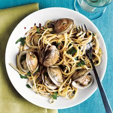 Spiced Up Linguine with Clams