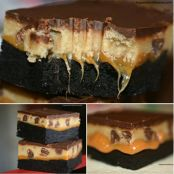 Cookie Dough Caramel Brownie Bars