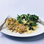Pistachio Chicken with Couscous & Greens Recipe