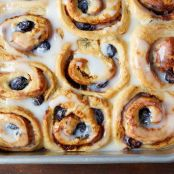 Alaskan Blueberry, Lemon, & Thyme Cinnamon Rolls