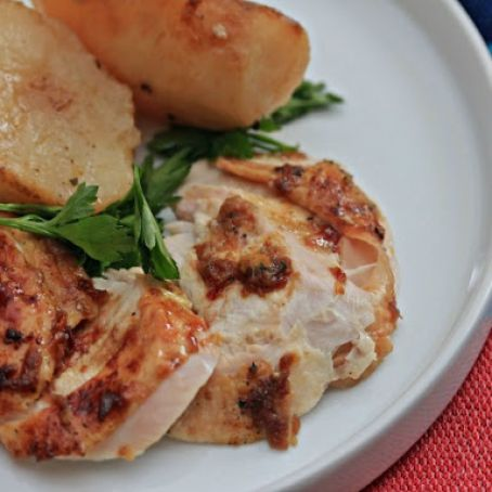 Blood Orange-Glazed Turkey Breast With Oven-Roasted Potatoes
