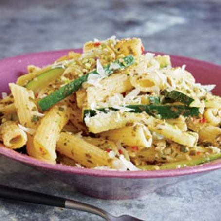 Penne and Zucchini with Lime and Herbs