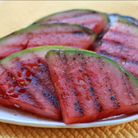 Grilled Watermelon Fillets with Watercress and Mint