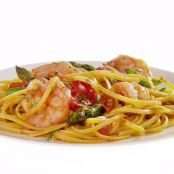 Linguine with Shrimp, Asparagus and Grape Tomatoes