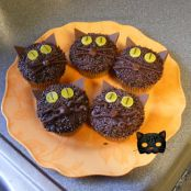 Black Cat Cupcakes (Halloween)