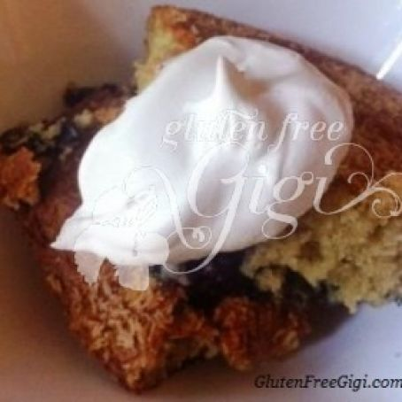 cake - Gluten Free Blueberry Coffee Cake