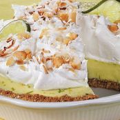 Coconut-Lime Pie With Coconut-Macadamia Crust