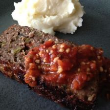 Kristi's Out Of This World Meatloaf with Homemade Tomato Garlic Sauce