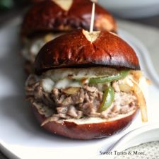 Spicy Jalapeño Philly Cheese Steak Sliders