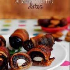 Bacon Wrapped Dates with Almonds